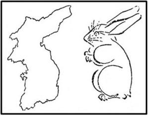 корея похожа на зайца