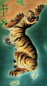корея тигр карта