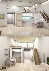 Квартира-студия в Корее