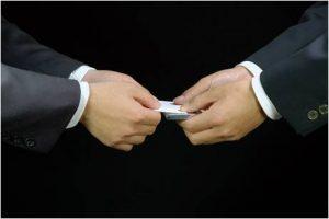 визитная карточка корея